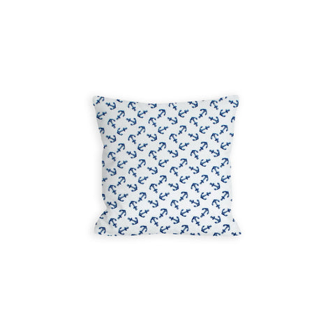 Anchors Aweigh White and Navy Pillow - LIL