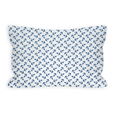 Anchors Aweigh White and Navy Toddler Pillow