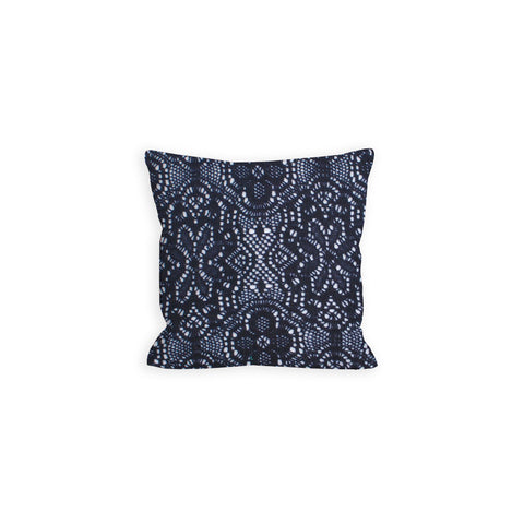 Republic Navy Crochet Lace Pillow - LIL