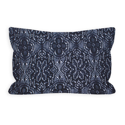 Republic Navy Crochet Lace Toddler Pillow