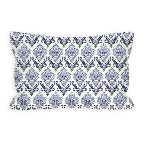 Fanciful Damask Light Indigo and Navy Toddler Pillow