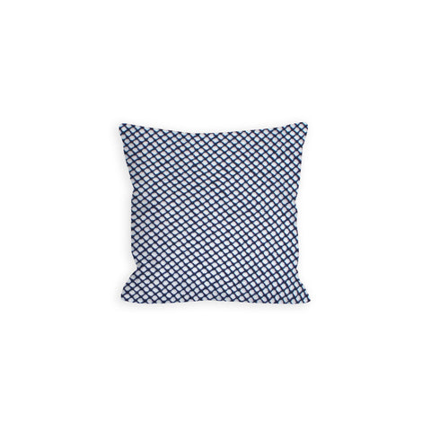 Gone Fishin' with a Navy Net Pillow - LIL