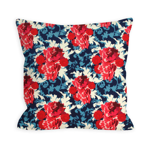 Red, White and Blue Flowerworks Pillow