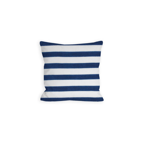 Victory Navy and White Stripes Pillow - LIL