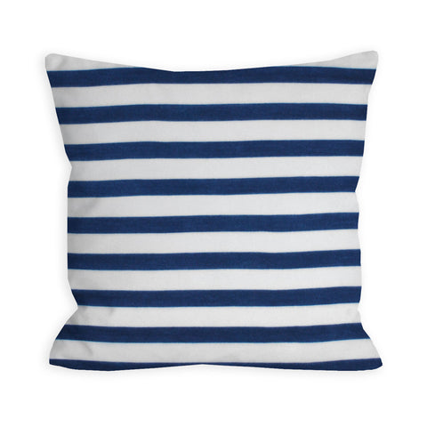 Victory Navy and White Stripes Pillow