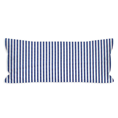 Rag-Time Navy and White Striped Lumbar Pillow