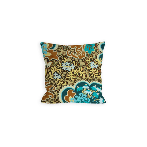 Oriental Rose Teal Pillow -LiL