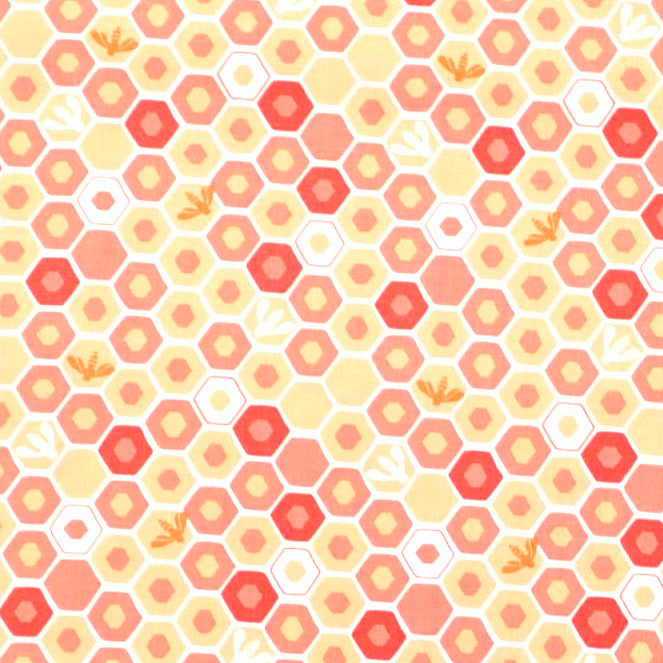 Apricot and Peach Honeycomb Toddler Pillowcase, 13X18