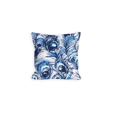 Pretty as a Navy Peacock Pillow - LIL