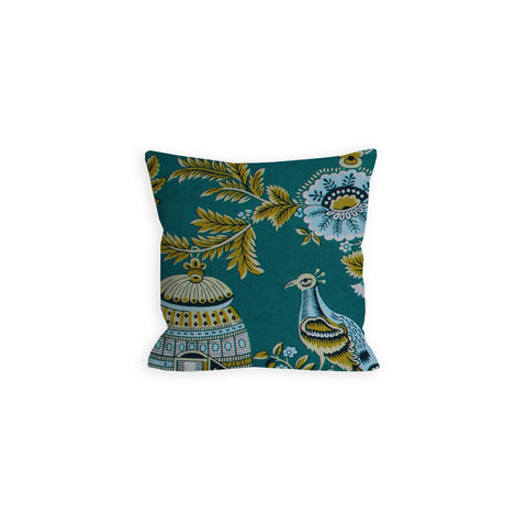 Perching Peacock Teal Pillow -LiL