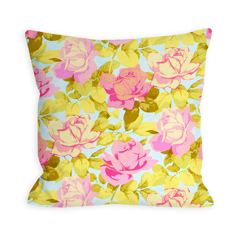 Roses in the Crystal Clear Sky Pillow