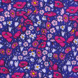 Saturated Purple Floral Garden Pillow - LIL