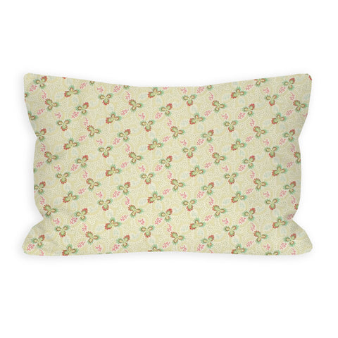 Floral Swirl Green Toddler Pillow