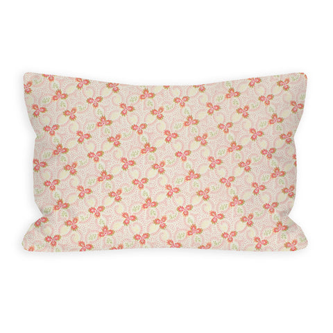Floral Swirl Pink Toddler Pillow