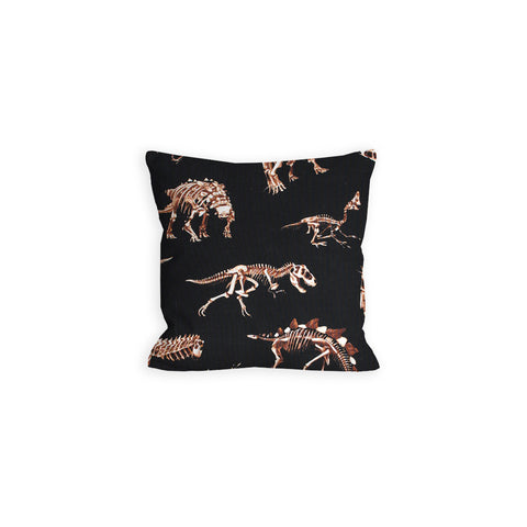 Teenie Weenie Halloweenie Dino Bones Black and Brown Pillow - LIL