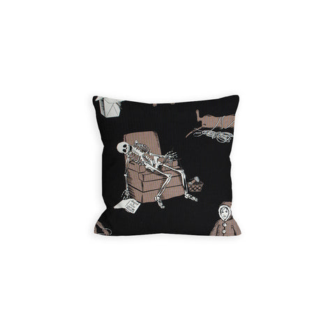 Teenie Weenie Halloweenie Ball of Yarn Black and Brown Pillow - LIL