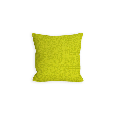 Thor Takes Manhattan Lime City Streets Pillow - LIL