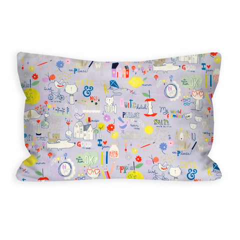 Happy Learning Toddler Pillow