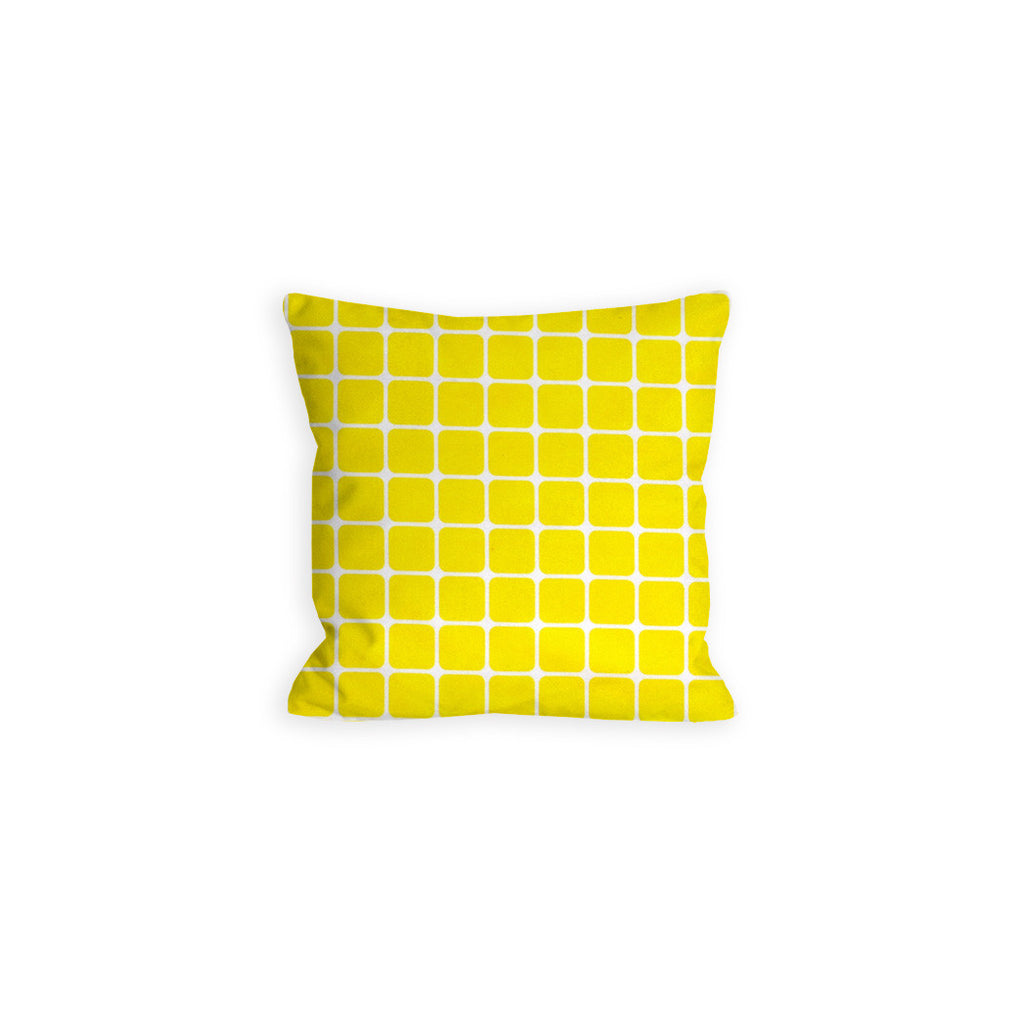 Happy Yellow Grid Pillow - LIL