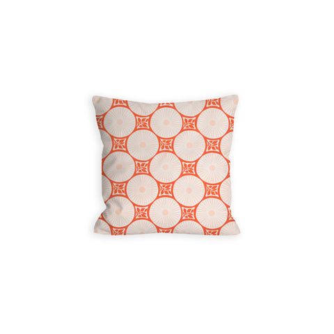 Coral Dreams Abstract Medallion Pillow - LIL