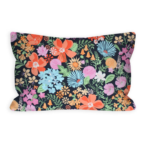 Coraline's Floral Slate Grey Toddler Pillow