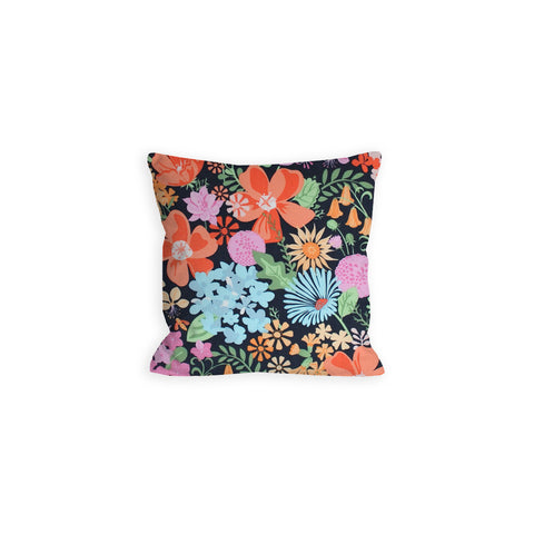 Coraline's Floral Slate Grey Pillow - LIL