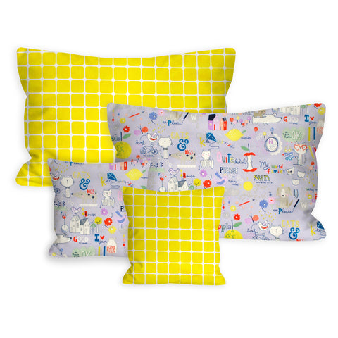 Happy Learning Nursery + Toddler Pillow Set