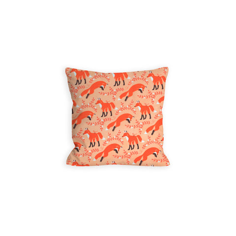 Woodland Foxtrot Apricot and Peach Foxtrot Pillow - LIL