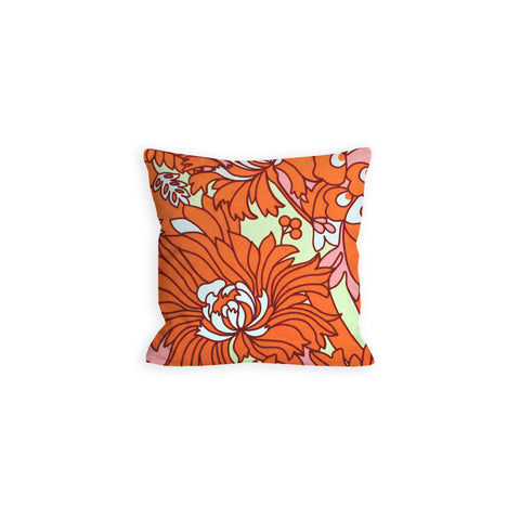 Orange Floral Creamsicle Pillow - LIL