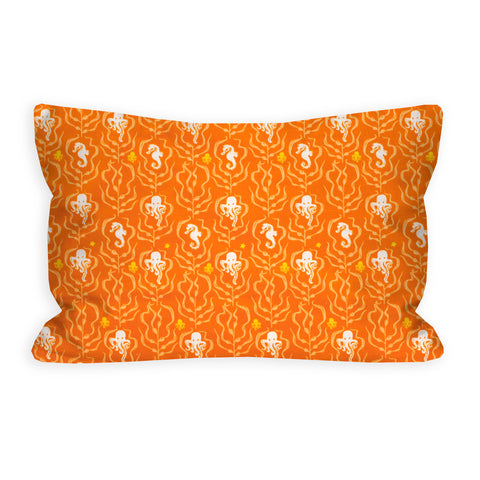 Orange Octopus and Seahorse Creamsicle Toddler Pillow