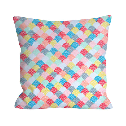 Candy Colored Sea Scallops Pillow