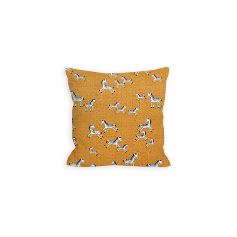 Prancing Speckled Zebra's Sienna Brown Pillow - LIL