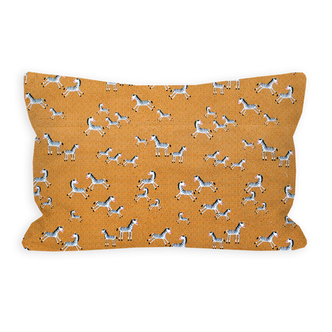 Prancing Speckled Zebra's Sienna Brown Toddler Pillow