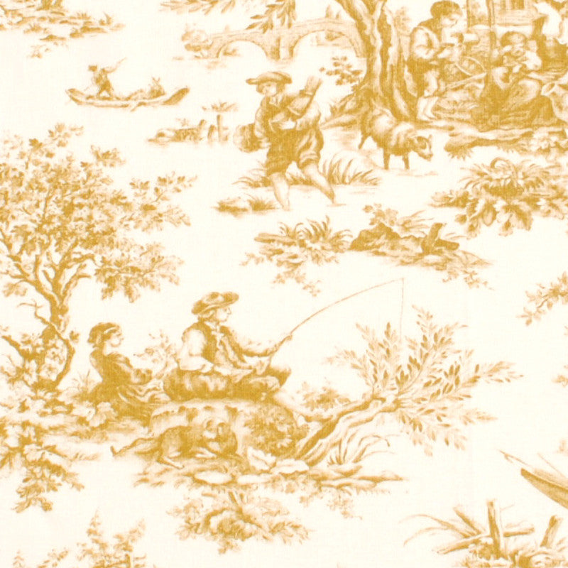 French Countryside Sepia Toile Pillow