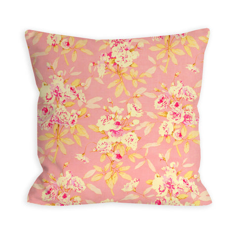 Pink And Shabby Roses Pillow