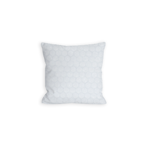 Simple Dots Tonal Bright White Pillow - LIL