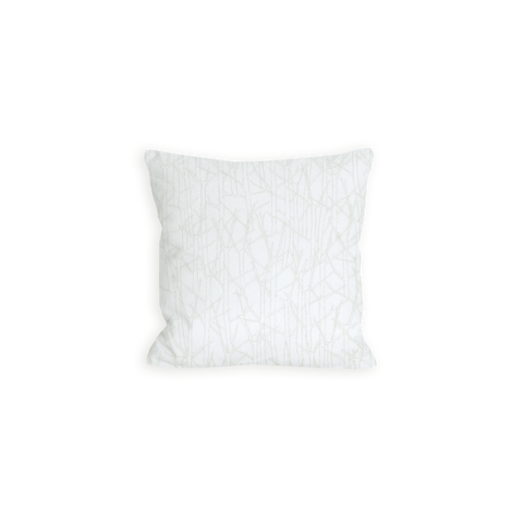 Snowy Japanese Branches Tonal and Eggshell White Pillow - LIL