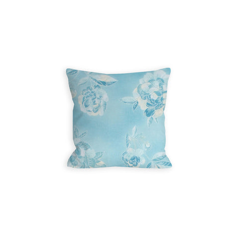 Tonal Sky Blue Floral Pillow - LIL