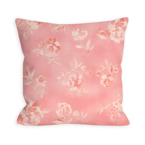 Tonal Pink Floral Pillow