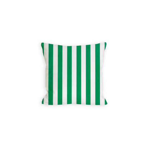 True Green and White Stripe Pillow - LIL