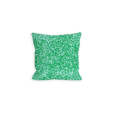 Comforting Leaves White and True Green Pillow - LIL