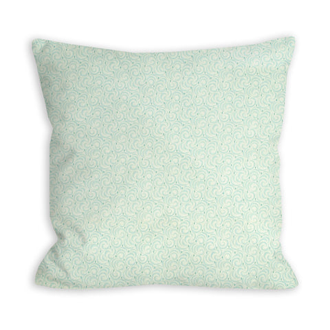 Sea Green Tidal Waves Pillow