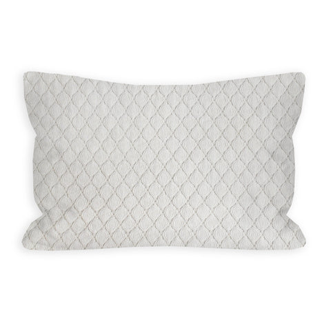 Crochet Lace Cream Toddler Pillow