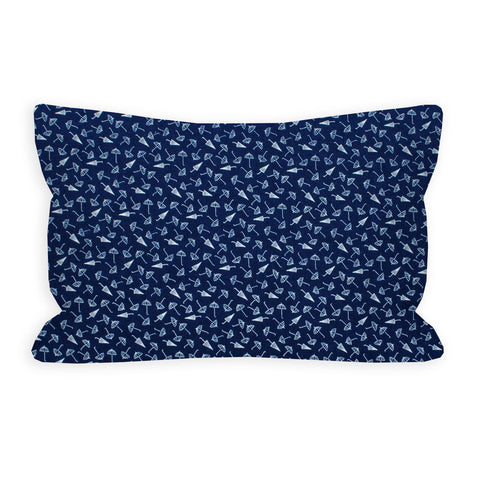 Hooray Navy Umbrella Toddler Pillow