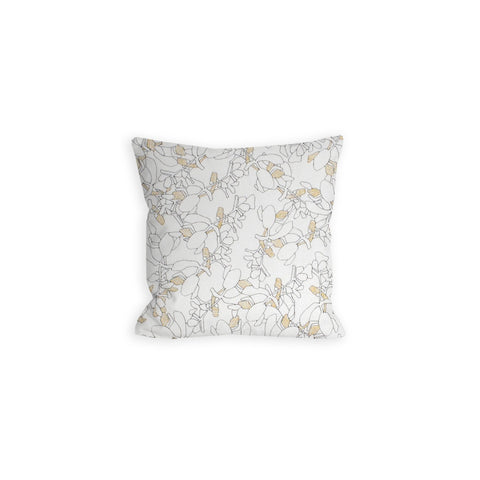 Japanese Botanicals White and Gold Pillow - LIL