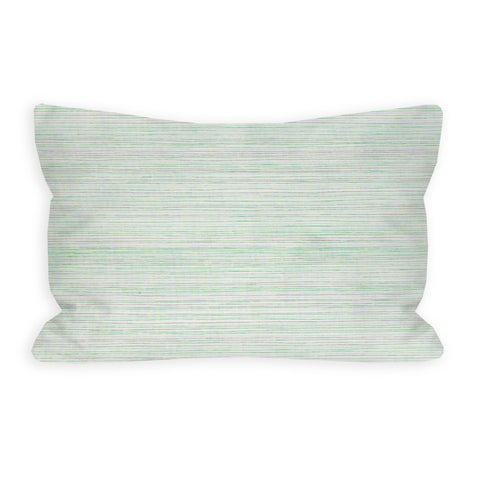 Fine Artist White and Green Toddler Pillow