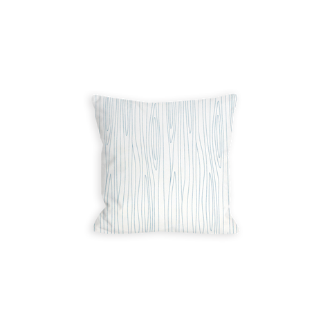 Coraline's Frost Woodgrain Grey and White Pillow - LIL