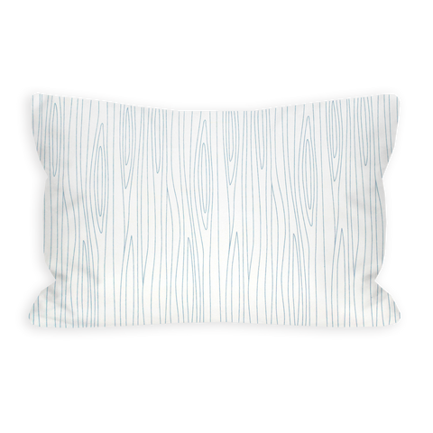 Coraline's Frost Woodgrain White Toddler Pillow