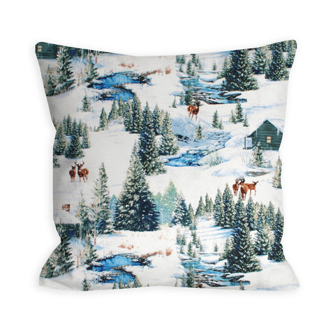 Winter Retreat Please Pillow