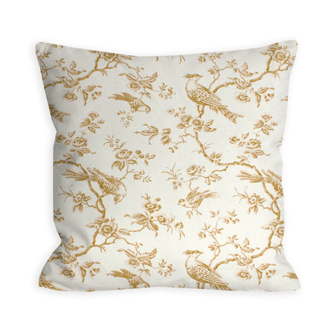Witching Hour Toile Tan Pillow